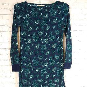 Michael Kors Blue Green Paisley Mini Dress XS